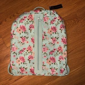 NWT floral drawstring backpack back to school new